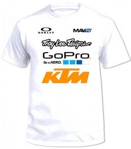 Troy Lee Design KTM - HONDA White Tee Premium