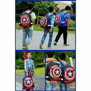Captain America Set ( Backpack + Sling Bag)