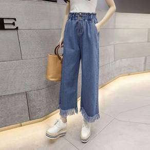 Wide leg jeans long pants