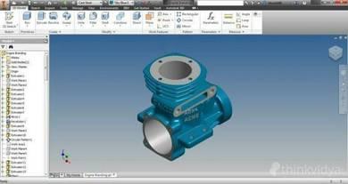 Belajar Cara Buat 3D & 2D Dengan Inventor