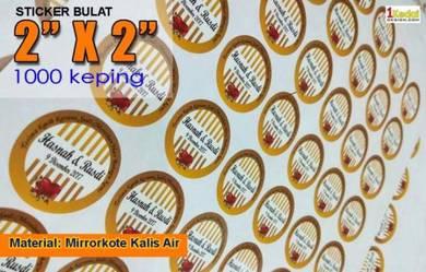 Kami Print Sticker 2X2 inci Bulat 1000 kpg