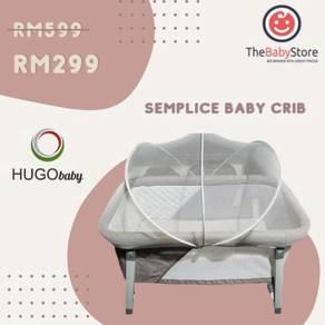 Hugo baby - the semplice baby crib (grey/brown )