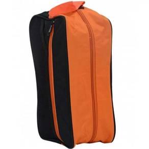 Shoe Bag Orange sulam/print Logo dan Tulisan