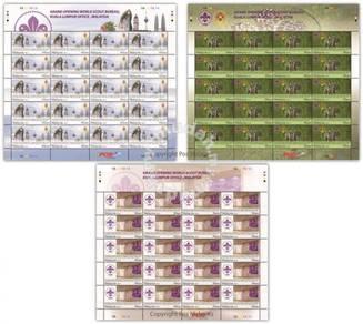 Mint Stamp Sheet World Scout Bureau Malaysia 2014