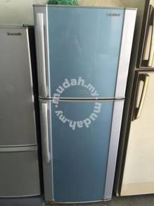 Blue Fridge Refrigerator Sejuk Peti Ais Samsung