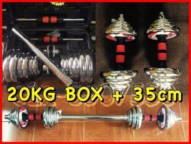 20kg box dumbell siap penyambung BOLEH COD NEW