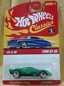 Hotwheels Classic Ford GT-40 - Metallic Green