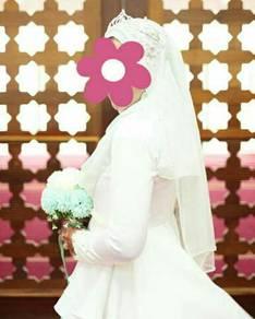 Baju Nikah ( Peplum) white
