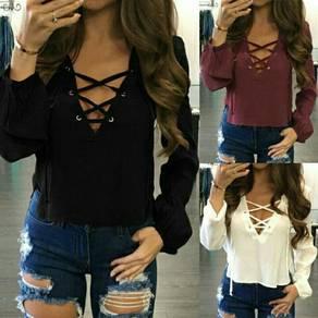 Long sleeve loose blouse