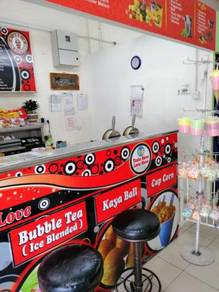 Kiosk Selling Waffle and Ice Blended