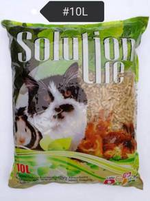 Solution Life Wood Pellet Cat Litter 10L Organic