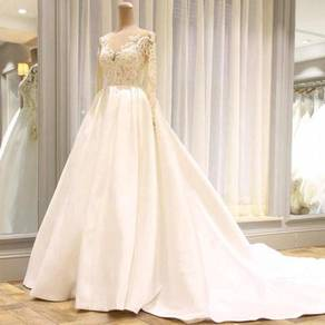 White long sleeve wedding dress gown RBMWD0263