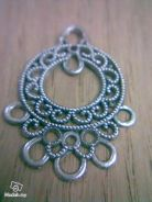 ABPSM-F005 Silver Metal Fancy-5 Pendant Necklace