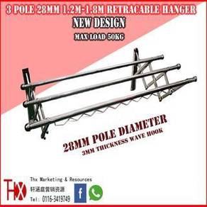 Stainless Steel Cloth Hanger Wall Type TelescopicT