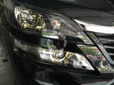 Vellfire 08-14 facelift golden eye head lamp