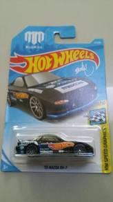 HotWheels '95 Mazda RX-7 Madmike black