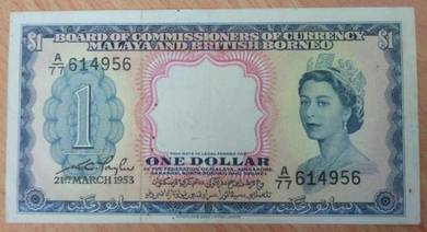Malaya and British Borneo 1 dollar