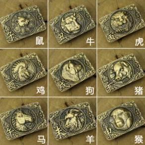 Chinese Zodiac Pure copper Buckle
