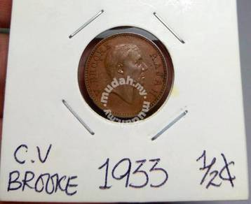 Sarawak Old Coins Half Cent 1933