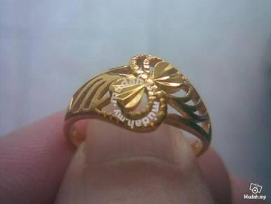 ABRGM-F002 Fancy 9k solid gold filled ring size 8