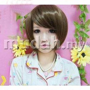 Female short hair wigs with long fringe mdh001