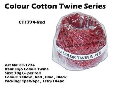 CT1774-Kijo Colour Twine Red