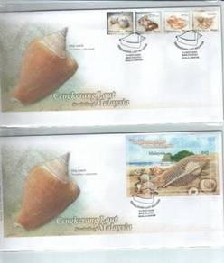 First Day Cover Seashells Malaysia 2008