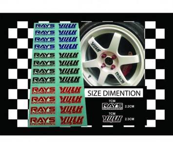 Sticker rim te37 volk rays_19