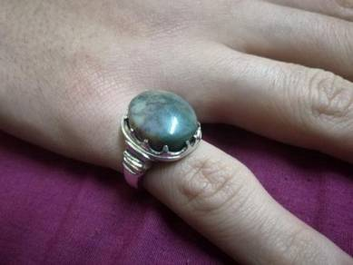 Cincin Perak Batu 'Aqiq Yamani