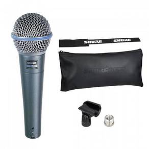 Shure Beta 58A Vocal Microphone With Mic clip