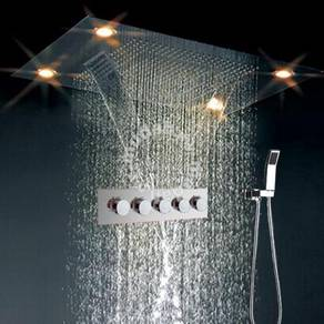 Waterfall rain remote led rainfall shower set