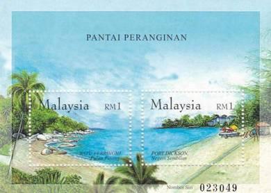 Miniature Sheet Island and Beaches Malaysia 2002