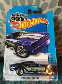 Hotwheels '71 Mustang Funny Car - Dark Blue