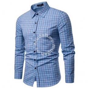 Men's Fashion Plaid Pattern Design Collar Single B