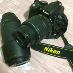 Nikon with lens