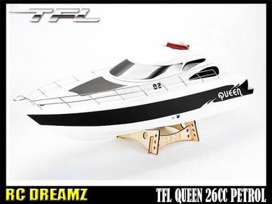 PETROL FUEL rc boat : 26CC ENGINE TFL QUEEN CRUISE