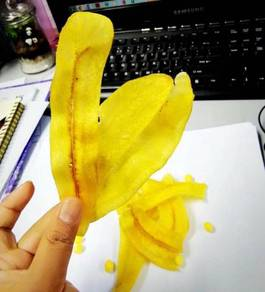 Kerepek pisang masin rangup