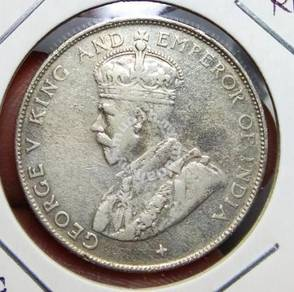 Malaya old coins 1920 50 cents