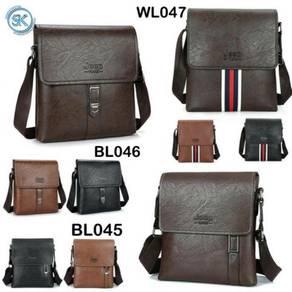 Beg Lelaki Sling/Chest Beg PU Leather
