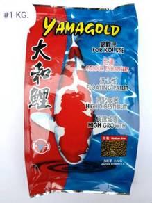 YamaGold Koi Fish Floating Pellet Feed Food 1kg