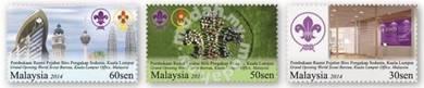 Mint Stamp World Scout Bureau Malaysia 2014