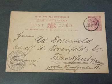 Postcard PENANG German 1898 PC 126