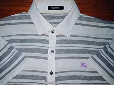 Authentic BURBERRY BLACK LABEL #2 Stripes S Shirts