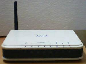 AZTECH DSL605EW ADSL2/2+ Wireless b/g 4 Port Modem