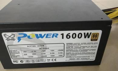 1600W Power Supply PSU 6 GPU ETH BTC Mining Rig