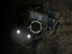 Jeep willys military diecast model (light/sound)