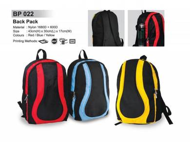 Bag Backpack Sport Boleh Cetak