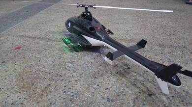 Airwolf Scale RC Heli (450 size) w/ Radio for Sale