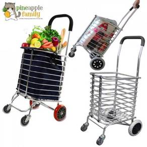 4 wheels trolley / aluminium shopping cart 08