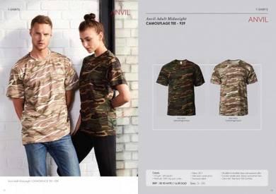 Camouflage tshirt untuk printing